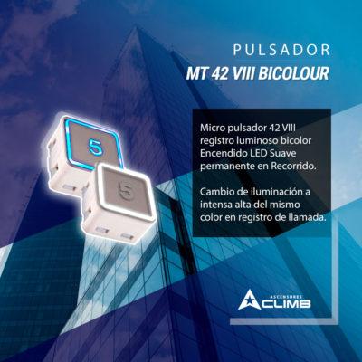 Pulsador MT 42 VIII BICOLOR