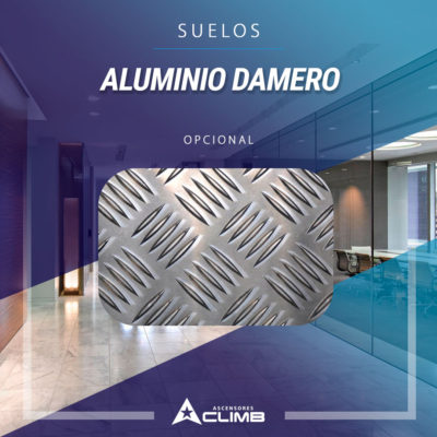 Suelos de aluminio damero